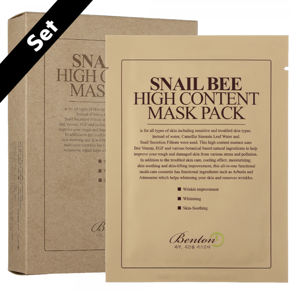 Benton Snail Bee High Content Mask Pack Set