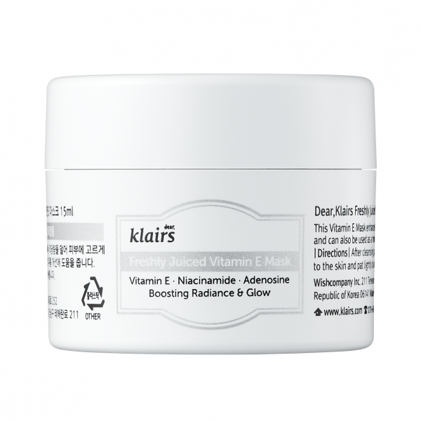 KLAIRS Freshly Juiced Vitamin E Mask 15ml