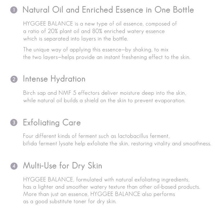 Hyggee One step facial essence balance