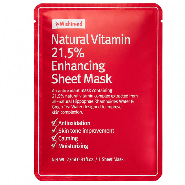 By Wishtrend Natural Vitamin C21,5% Enhancing Sheet Mask
