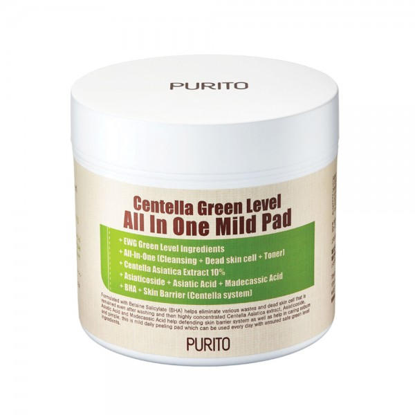 Purito Centella Green Level All In One Mild Pad 130ml